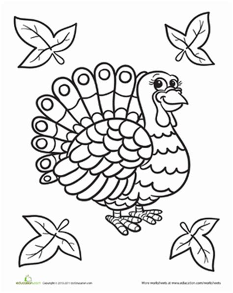 educational thanksgiving coloring pages cute turkey worksheet education com