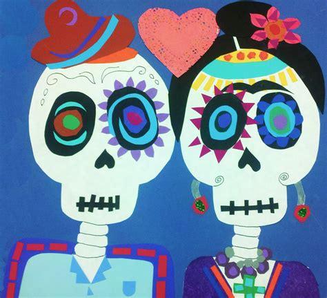 dia de los muertos crafts for d 237 a de los muertos calavera collage modern 4