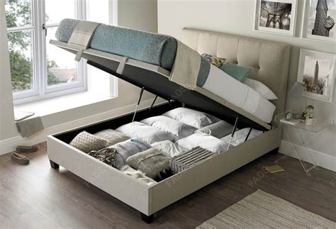 fabric ottoman storage bed kaydian walkworth fabric ottoman bed free delivery fads