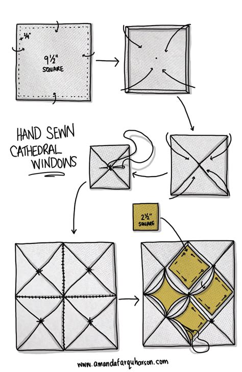 Cathedral Window Patchwork Tutorial - sewn cathedral windows tutorial cathedral windows