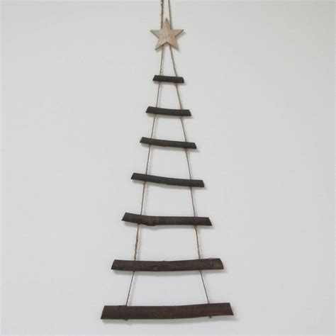 large wooden twig hanging decoration by chapel cards