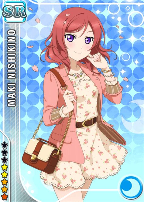 live school idol festival card template school idol tomodachi cards album 282 nishikino maki sr