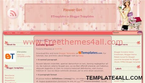 free girly templates for blogger pink stars girly free blogger template freethemes4all