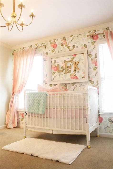 Wallpaper Girl Nursery | pretty in pink 55 pink nurseries project nursery