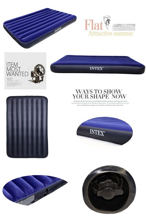 How To Deflate Intex Air Mattress by Intex Air Bed Mattress Single Lazada