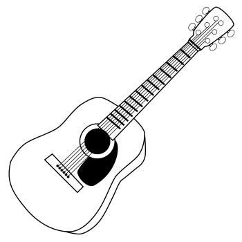 printable guitar images free guitar clip art lovetoknow
