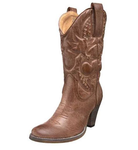 western boots with high heels high heel brown western women s cowgirl boots for women