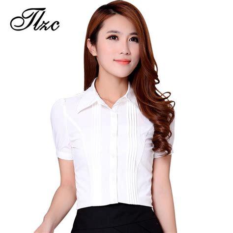 Fashion Pria 2017 White Size Xl tlzc new ol design white shirts 2017 fashion career clothing plus size s 3xl high quality