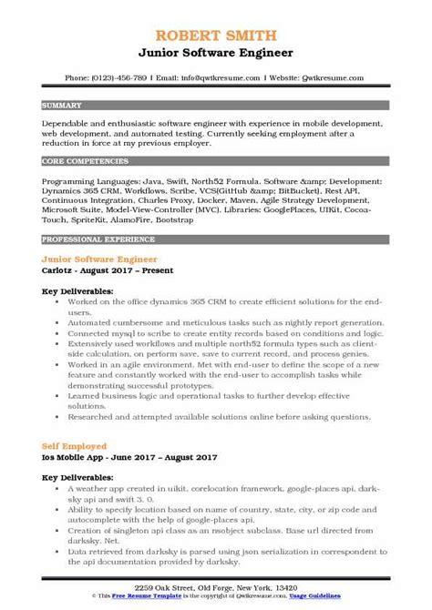11 resume software engineering applicationleter com