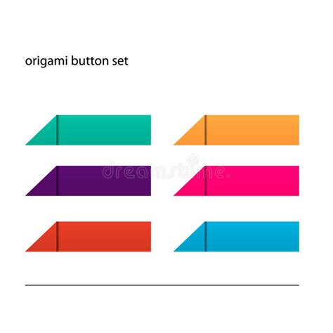 Origami Button - origami button set royalty free stock images image 28468219