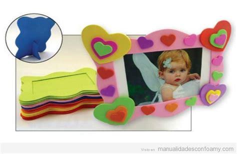como hacer marcos con foamis imagenes marco fotos manualidades con foamy manualidades de