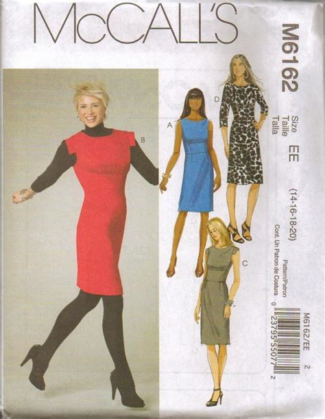 sewing pattern plus size mccalls sewing pattern misses dress with mccall s plus
