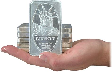 10 Ounces Of Silver by 999 Silver 10 Oz Bar Ira Approved Liberty Silver Bar
