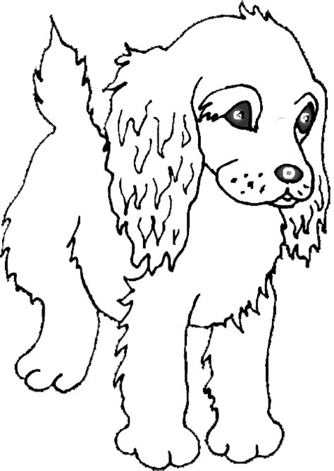 animals coloring pages cute puppy playing kids