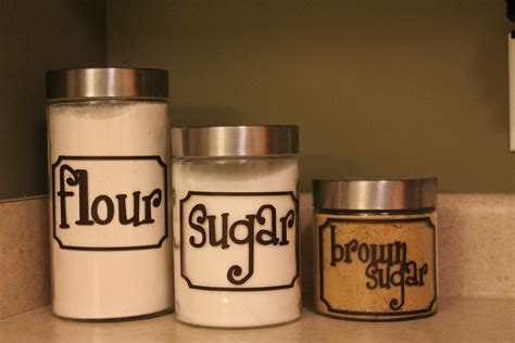 Labels For Kitchen Canisters | 7 custom kitchen canister labels with frame