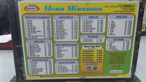 Harga Makanan Minuman by Menu Makanan N Harganya Picture Of Cafe Madtari Bandung