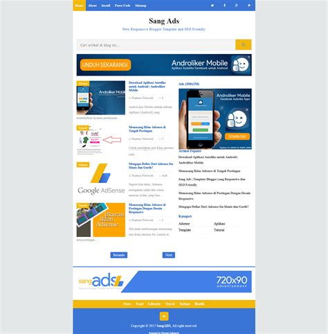blogger templates for advertising sang ads high ctr responsive blogger template