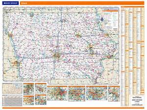 rand mcnally iowa map one map place inc