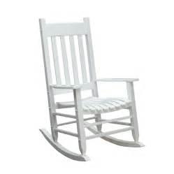 shop garden treasures white wood slat seat outdoor rocking