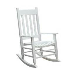 Treasures white wood slat seat outdoor rocking chair at lowes com