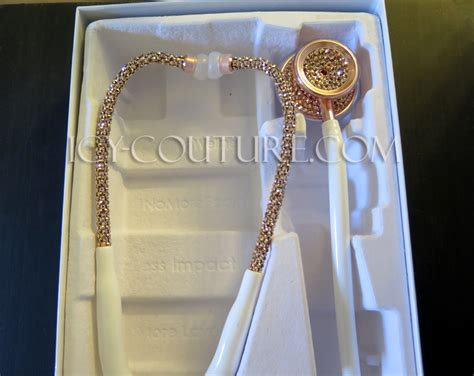 Home Interior Color Ideas by 24k Rose Gold White Stethoscope With Swarovski Crystals