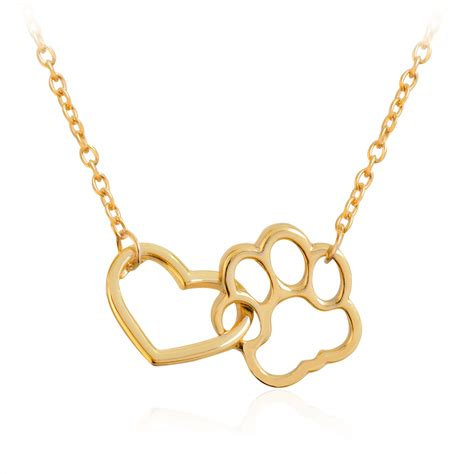 paw necklace linked paw necklace silver hollow shaped pet paw print pendant necklace