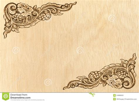 pattern of wood frame carved flower carved frame stock image image of image culture