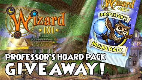 Mmorpg Giveaways - professor s hoard pack giveaway wizard101 mmorpg com