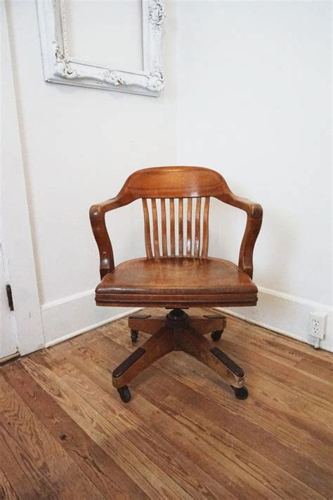 antique bankers chair repair this is a solidly constructed antique wooden bankers chair