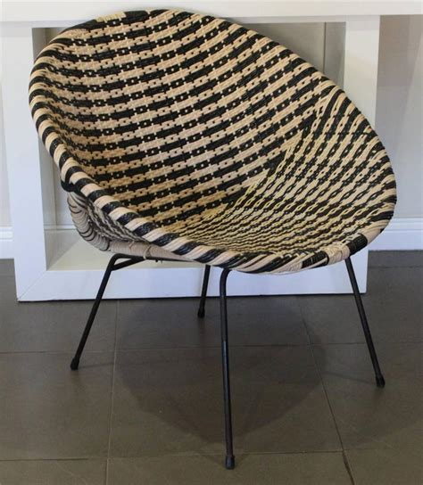 wicker moon chairs for adults vintage retro 50 s coolie wicker saucer chair ebay