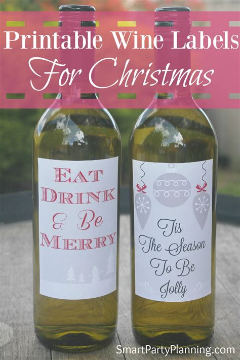 printable christmas wine labels printable wine labels for christmas