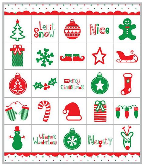 free printable christmas memory games christmas bingo memory game printable