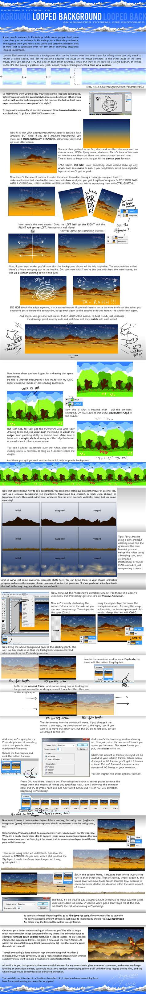 tutorial wallapaper ps tutorial looped background by radenwa on deviantart
