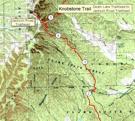 Knob Hill Trail Map by Knobstone Trail Map