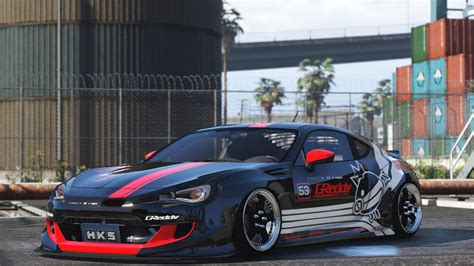 modded subaru brz greddy racing brz gta5 mods com