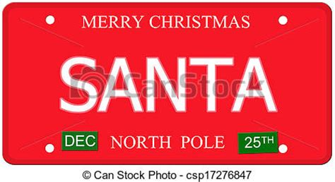 Sticker Plat California Santa santa pole license plate an imitation license plate stock photo search photographs