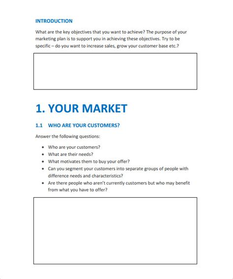 15 Marketing Action Plan Templates To Download For Free Sle Templates Simple Marketing Plan Template 2