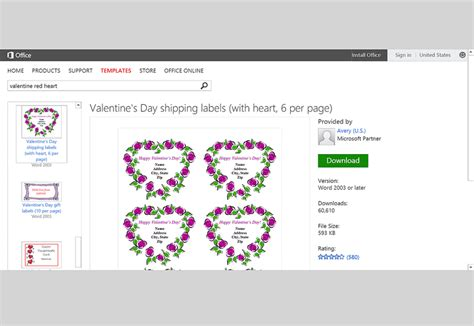Free Valentine S Day Templates For Ms Office Microsoft Word Name Tag Template