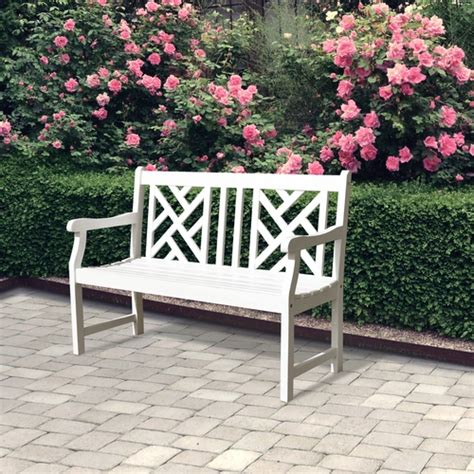 white garden benches for sale buy bradley v1631 4 foot outdoor white wood garden bench