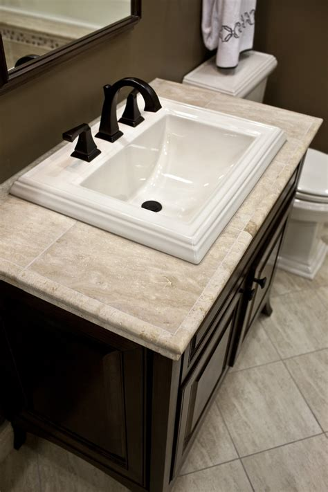 Bath Vanities With Tops Best 25 Travertine Countertops Ideas On