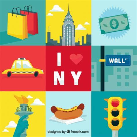 new free new york city elements illustration vector premium