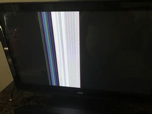 vertical section of tv why are there vertical color bars appearing in 1 section