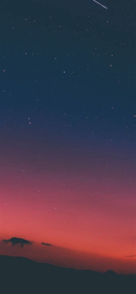 night sky sunset pink nature iphone  wallpapers