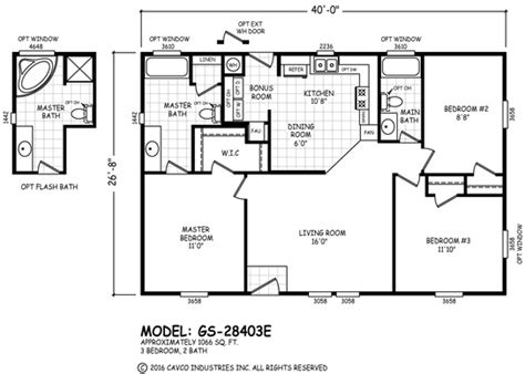 cavco floor plans floor plan gs 32563k gs 28 32 wides homes by cavco