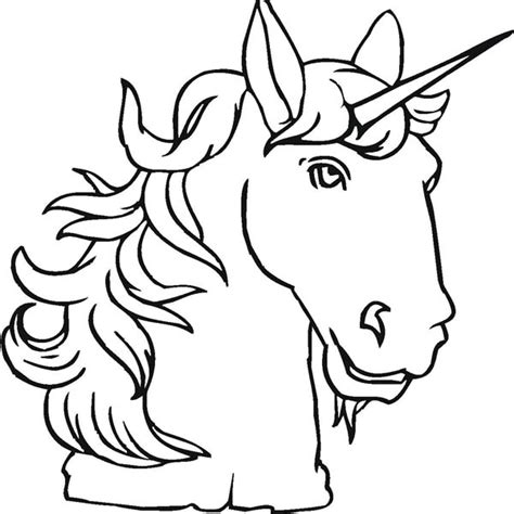 coloring pages unicorn head unicorn head coloring pages clipart best