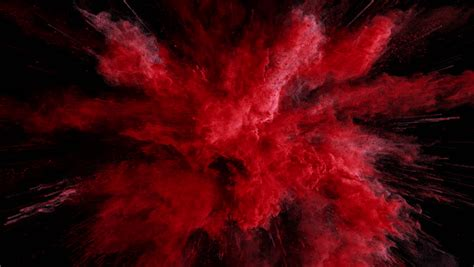 cg animation  red powder stock footage video