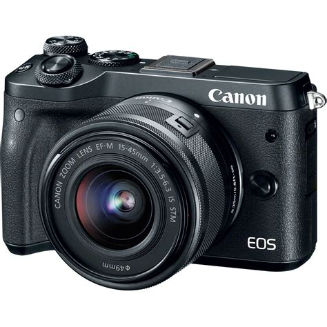 mirror less canon eos m6 mirrorless digital with 15 45mm