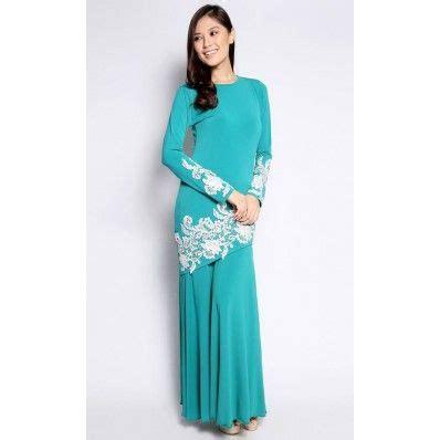 Ls57062 White Baju Set Baju Impor Baju Cantik Murah Baju Fashion glam kurung with white prada lace in teal raya fashion