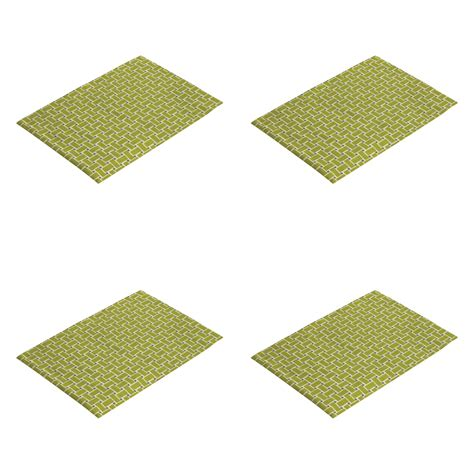 green lattice print placemats kitchen dining room set of 4