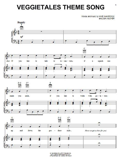 song free veggietales theme song sheet direct